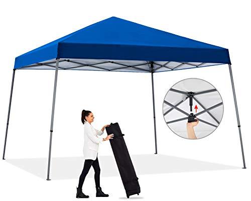 ABCCANOPY Camping Pop-up Canopy Easy Up Beach Canopy Outdoor Shade Bonus Wheeled Bag,White