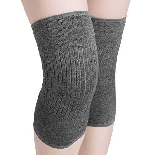 Scaldamuscoli termici in maglia per ginocchia artritiche, fascia di supporto per la notte, sollievo dal dolore, scaldano le ginocchia, ideali per yoga, corsa, allenamento, ciclismo, passeggiate
