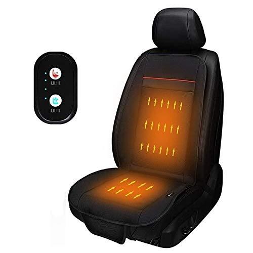 Auto Stoelverwarming Auto Pad Verwarming Pad, 12V / 24V Auto Stoelverwarming Pad, Met USB-interface, Beschikbaar Op Elk Moment Van Het Jaar (Color : Black, Size : 1 Pack)