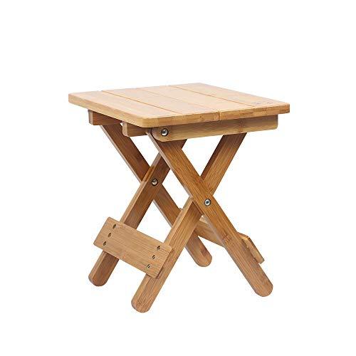 DEI QI Bambus Klappstuhl tragbares Zuhause Massivholz Mazar Outdoor Angeln Stuhl kleine Bank Hocker quadratischen Hocker (Style : A)