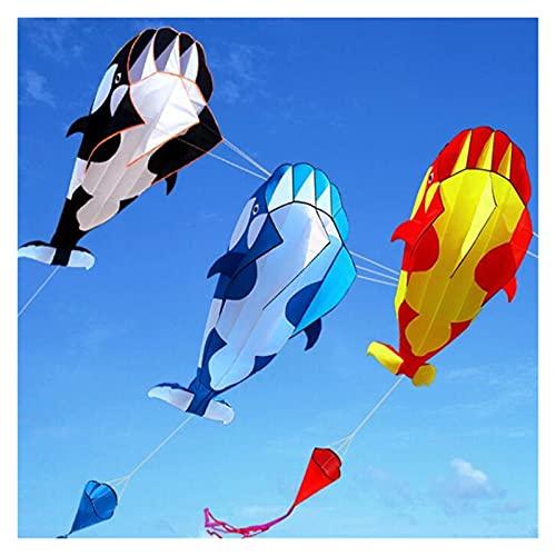 Cometa 1 PC Kite Nylon Tejido Kite Line Animated Kites Pesca Kite Inflable Juguete al Aire Libre (Color : Black)