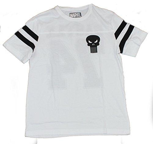 PUNISHER De Dos Tonos Camiseta X-Large Negro