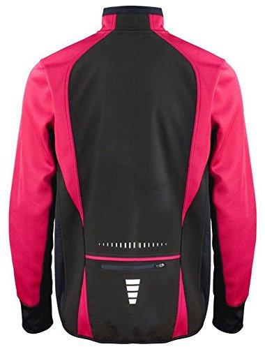 Coole-Fun-T-Shirts Laufjacke ohne Druck Schwarz - pink, Softshell Herren, GR.XXL