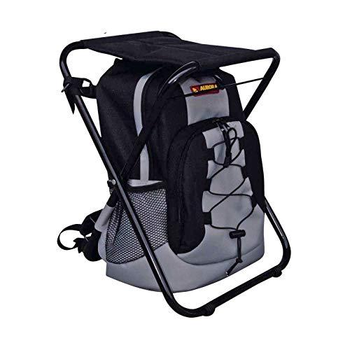 AURORA Outdoor Backpack - Zaino con sgabello - Nero