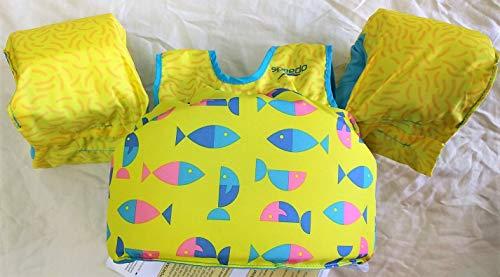 Speedo Kids' UPF 50+ Begin to Swim Printed Neoprene Swim Vest (Yellow)