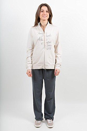 CHAMPION Frau Anzug Cotton Stretch Strass - Beige - Grau, S