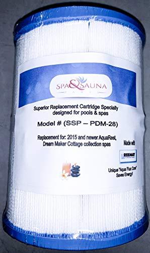Spa & Sauna Parts Replacement Cartridge Filter for Dream Maker, Aquarest PDM28 461273