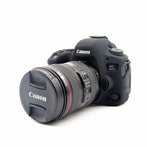 Yunchenghe Funda Protectora de Silicona, para cámara Profesional con protección fácil para cámara, para Canon EOS 6D2 6dii 6D Mark II - Negro