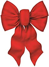 """Rocky Mountain Goods Large Wired Red Bow - 12"""" wide by 20"""" long - Christmas wreath bow - Great for large gifts - Indoor / outdoor - Hand tied in USA - Waterproof Velvet - Attachment tie"""