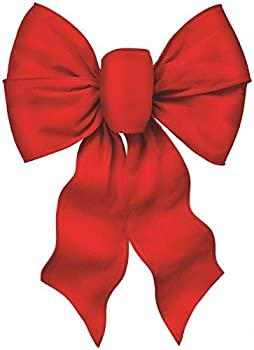 Rocky Mountain Goods Large Wired Red Bow - 12  Wide by 20  Long - Christmas Wreath Bow - Great for Large Gifts - Indoor/Outdoor - Hand Tied in USA - Waterproof Velvet - Attachment tie  1