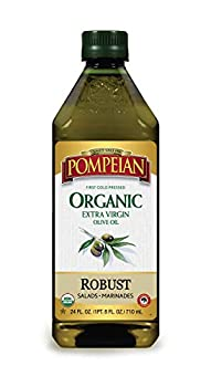 Pompeian USDA Organic Extra Virgin Olive Oil First Cold Pressed Full-Bodied Flavor Perfect for Vinaigrettes & Marinades 24 FL OZ.