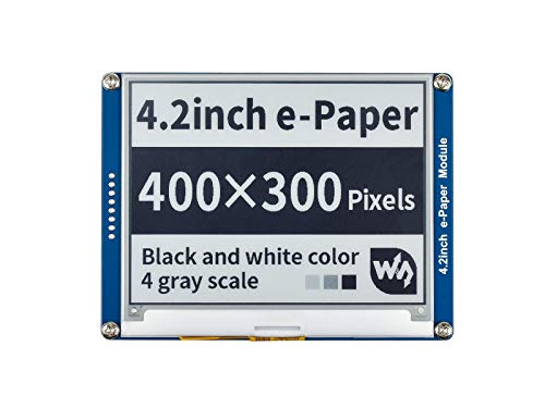 Waveshare 4.2 Inch E-Paper Display Module Kit 400 x 300 Resolution 3.3v/5v E-Ink Electronic Screen with Embedded Controller SPI Interface for Raspberry Pi/Jetson Nano/Arduino,Support Full Refresh