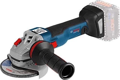 Bosch Professional GWS 18V-10 C Amoladora angular, sin batería, 9000 rpm, conectable, disco diámetro 125 mm, en caja, 18 V, azul, 358x110mm