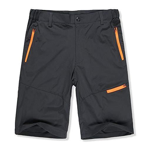 Fitsund Herren MTB Shorts Schnell Trockend Kurz Fahrradhose Sport Freizeit Hose ohne Sitzpolster (Grau)