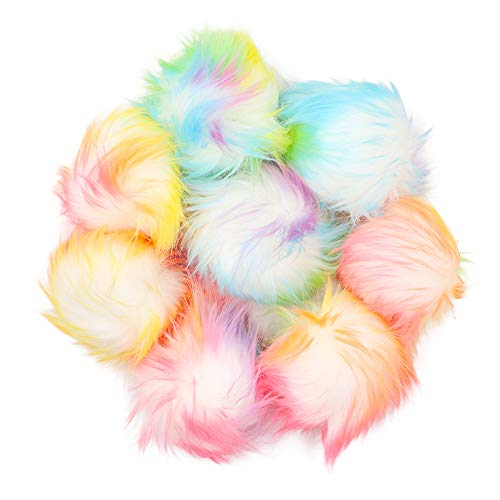 Faux Fur Fluffy Pom Poms Balls for Hats Shoes Scarves Beanies Bag Pompoms Keychain Charms Knitting Hat Accessories