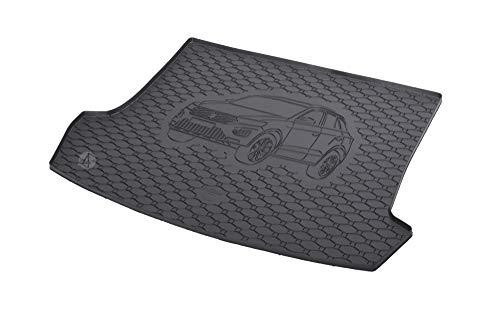 Passgenau Kofferraumwanne geeignet für VW T-ROC ab 2017 ideal angepasst schwarz Kofferraummatte + Gurtschoner