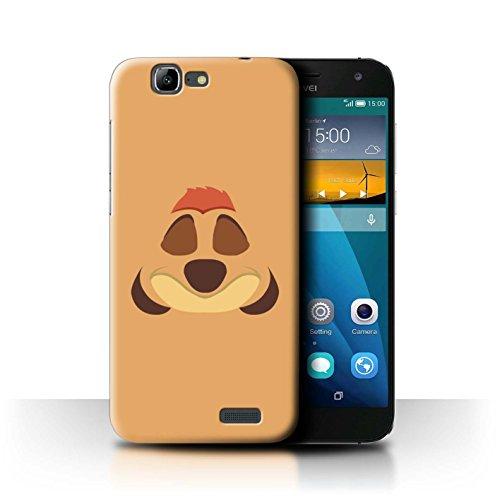 Hülle Für Huawei Ascend G7 Karikatur Afrikanische Tiere Timone Inspiriert Design Transparent Ultra Dünn Klar Hart Schutz Handyhülle Hülle