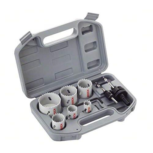 Wolfcraft 3764000 Coffret scie cloche 5 tr/épans Bi Metal Plus 35//40//51//65//68 Adaptateur 6 pans avec foret de centrage Coffret plastique