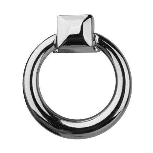 WINOMO 10pcs Schublade Pull Handle Kommode Kleiderschrank Schrank Knopf Ring Silber