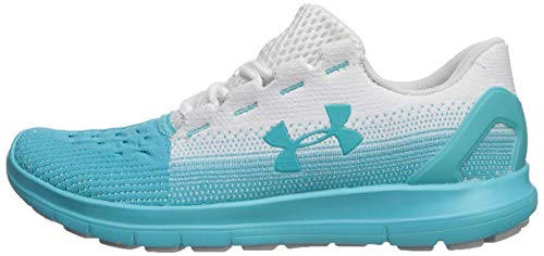 Under Armour Women's Remix 2.0 Sneaker, White (102)/Breathtaking Blue, 7