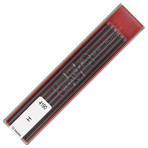 Koh-i-noor 2.0 mm Graphite Leads for Technical Drawing and Retouching, 4190 9H