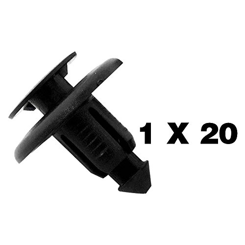Tuqiang 20 X Clips grapa plástico molduras - Bandeaux Universal – BC1D56145 – Remaches plásticas/garnissages/paneles de puertas/paso de ruedas – ces Clips se insèrent en un agujero de 8 mm