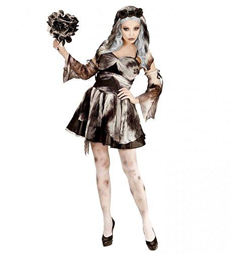 shoperama Totenbraut Damen-Kostüm Geisterbraut Halloween Geist Tote Braut sexy Kleid, Größe:L