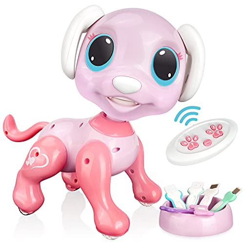 RACPNEL Remote Control Robot Dog Toy, RC...