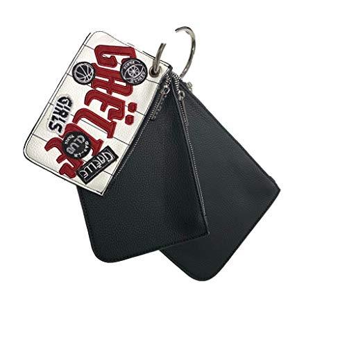 Gaelle PARIS TRIPLE BAG WITH KEY RING - Black - One size