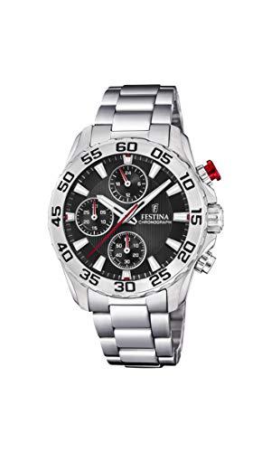 Festina Jungen Chronograph Quarz Uhr mit Edelstahl Armband F20457/3