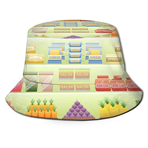 Supermercado estante sombrero de sol sombrero de pescador verano anti-Uvsunscreen sombrero de ala ancha sombrero cubo sombreros adecuados para pesca al aire libre viaje barco negro