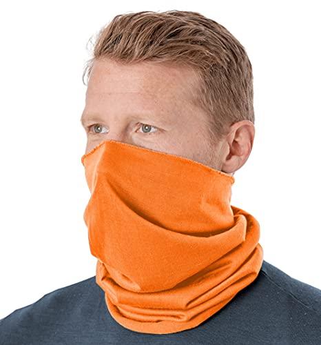 Tough Headband Neck Gaiter Face Mask & Sleeve w/ UV & Dust Protection, Orange