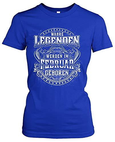 Echte legende verjaardag dames Girlie T-shirt | elke 12 maanden verkrijgbaar! Jubileum verjaardagsshirt grappig | blauw