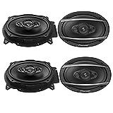 4 X Pioneer TS-A6960F 6' x 9' Inch 3-Way TS Series Coaxial Car Speakers Car Audio Speakers Package TSA6960F