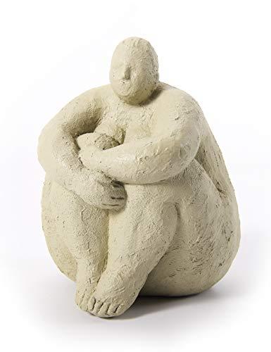 Amoy-Art Figurillas Decorativas Yoga Estatuilla Mujer para el Hogar Regalos Souvenirs Giftbox Resina 18cmH