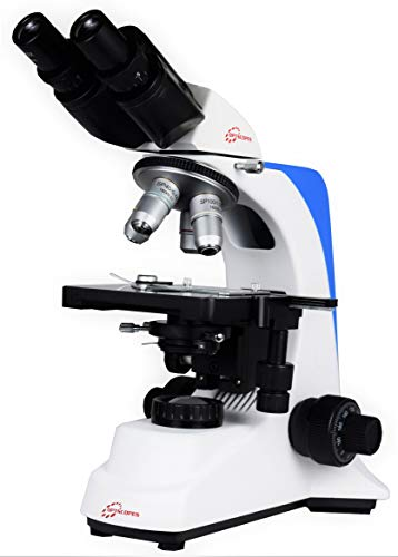 Esaw Optscopes Model-Advance Binocular Microscope(with Semi-Plan Objectives, 10X Wide-Field 18Mm Eye-Pieces,Centrally Adjustable Abbe Condenser, N.A 1.25 with Aspheric Lens.