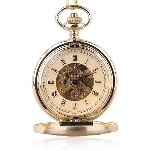 XIAOJIAN Exquisito Reloj de Bolsillo: Reloj de Bolsillo, Negro Acero Completo Luminoso Steampunk Vintage Hollog Hollog Skeleton Skeleton Hand Windering Mecánico Pocket BackCommodity Código: LXJ - 162