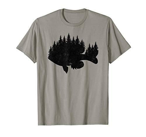 Bluegill Fishing Forest Treeline - Panfish Fisherman Gift T-Shirt