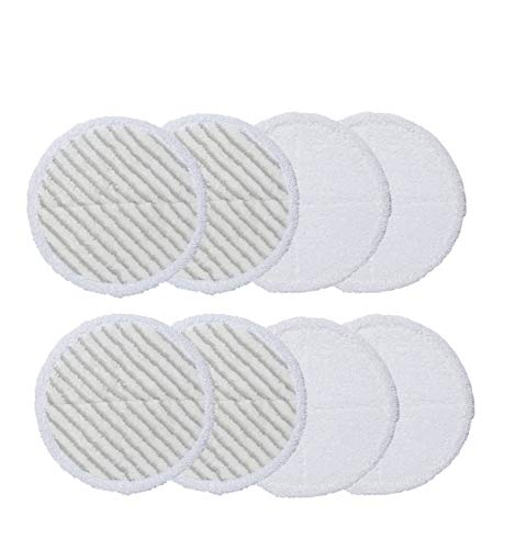 Supremery 8X Mikrofaser Reinigungs Pads für Bissell Spinwave 20522 2240N 2039A Mopp Pads (4X Weiß + 4X Grau)