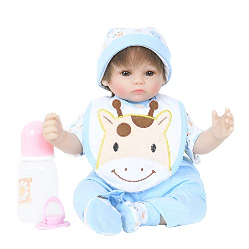 Fineday Reborn Baby Doll Soft Simulation Silicone Vinyl 17inch Realistic Xmas Present, Toys and Hobbies (Multicolor)