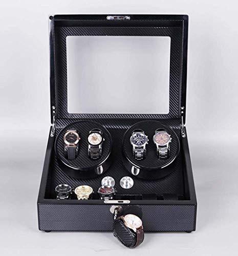Uhrengehäuse Automatic Winder Box Dual Storage 4 + 6 Plattenspieler Sehr leise Perfekt für das Schlafzimmer Büro