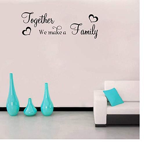 Zkpyy Laat ons een familie-kunst-liefdessticker pvc-muursticker 75 cm * 25,8 cm maken