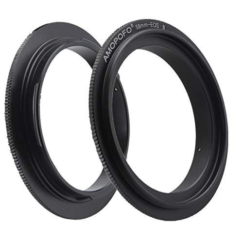 Anillo adaptador EOS R de 58 mm. Adecuado para fotografía macro, compatible con cámara de pantalla completa Canon EOS R.