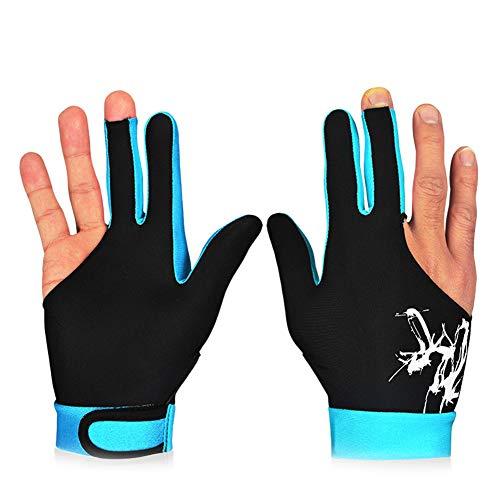 Sortim 1 Stück 3 Finger Snooker Billard Handschuh atmungsaktiv rechts links Hand Queue Sport