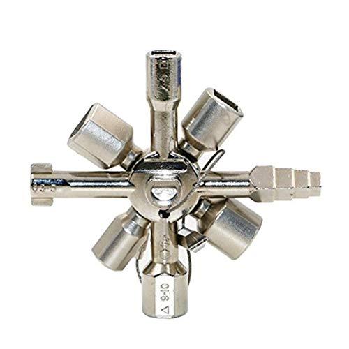WOSOSYEYO 10 En 1 Multifunción Interruptor en Cruz Llave Llave Aleación Gabinete Triángulo Cuadrado para Elevador eléctrico Caja de Armario
