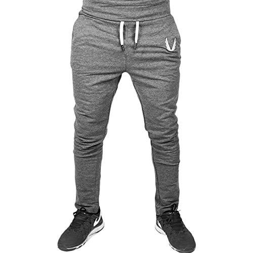 OtoñO/Invierno Etiqueta Bordada En Color SóLido Pantalones Casuales para Hombre Pantalones Deportivos con Cordones
