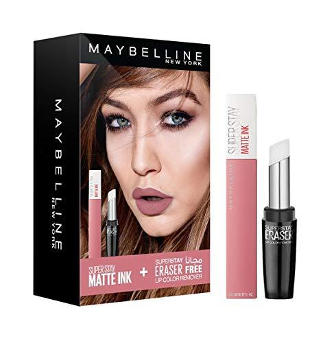 Maybelline New York Superstay Matte Ink Dreamer 10 + Superstay Eraser Lip Color Remover