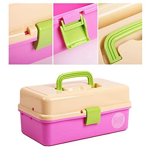 QIXIAOCYB Artistas Casas de Herramientas Arte Caja de Herramientas Caja Caja DE Almacenamiento Caja DE Caja, Caja de Pintura Caja de Medicina 32.8 * 19.8 * 15 cm Tableros de Dibujo (Color : Pink)