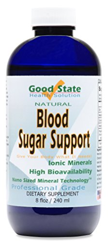 Good State | Blood Sugar Support | Natural | Nano Sized Mineral Technology | Professional Grade | Supports Healthy Blood Sugar Levels | 96 Servings | 8 Fl oz Bottle