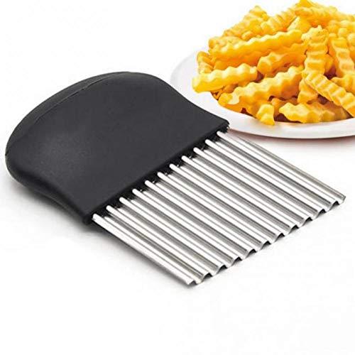 Beito Wellenförmige Cutter Edelstahl Crinkle Schneider Holzgriff Wellenförmige Messer Zum Schneiden Französisch Fries-Frucht-gemüse-Salat